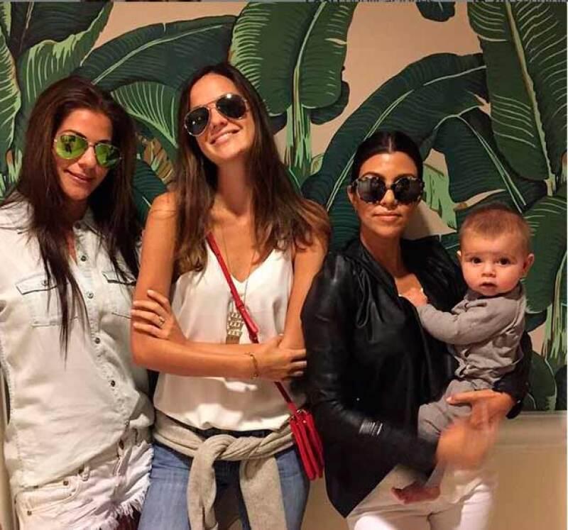 La hermana de Kim Kardashian presumió una nueva imagen de su tercer hijo, Reign, quien ya tiene seis meses de edad.