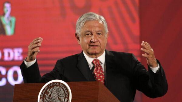 El Jefe del Ejecutivo Andrés Manuel López Obrador en la conferencia mañanera