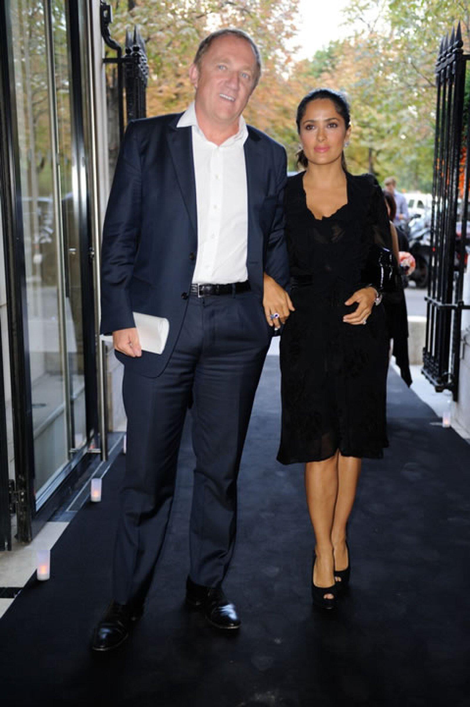 Salma y Francois durante un evento del Festival.