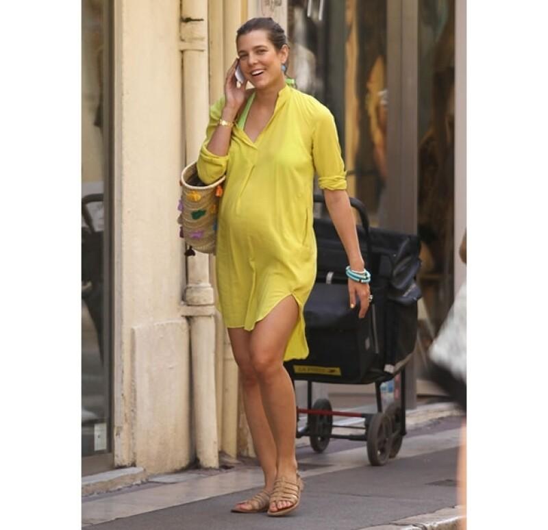 Carlota Casiraghi tuvo a su primer bebé en diciembre pasado.