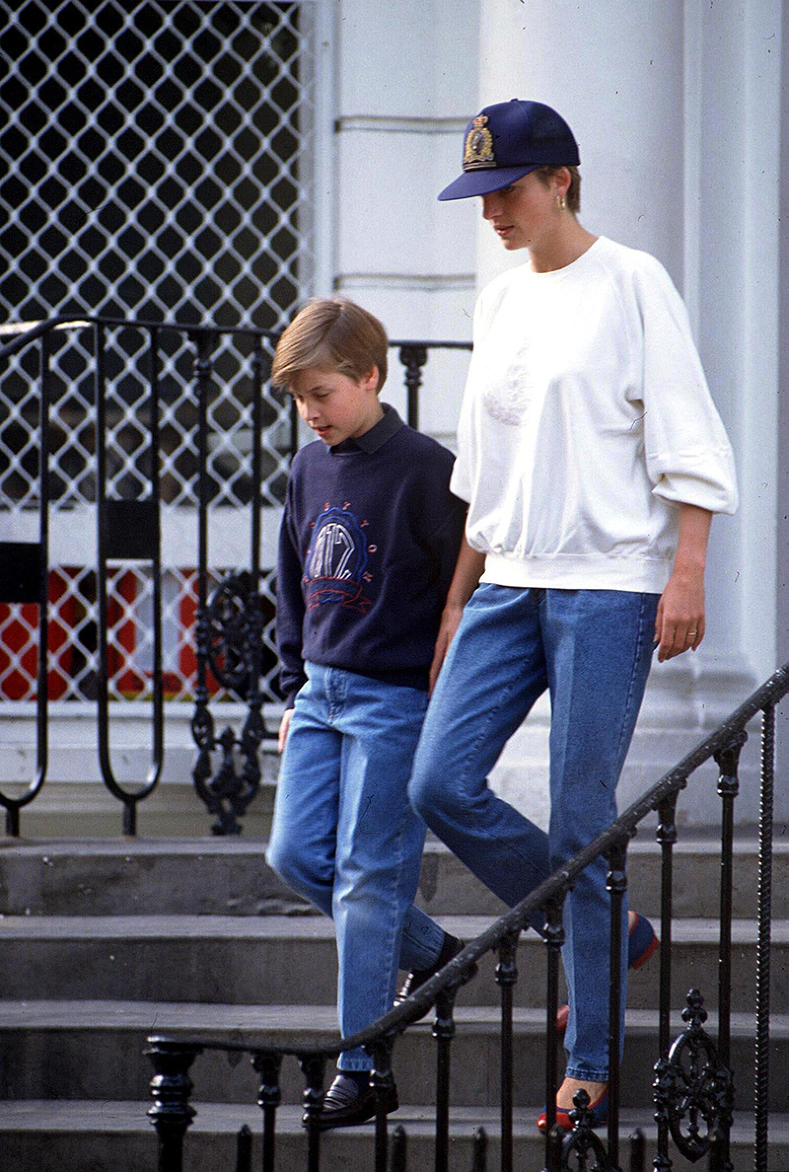 1992 PRINCE WILLIAM WITH PRINCESS DIANA