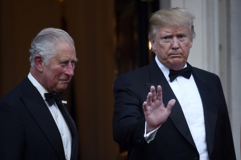 Príncipe Carlos y Donald Trump