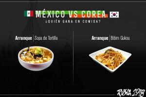 Arranque, México vs Corea