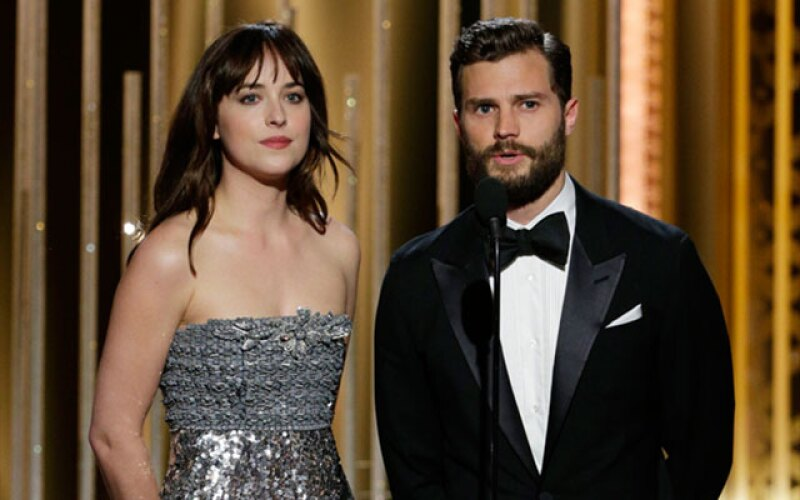 """La entrega se puso de lo más sexy al darse a conocer el nuevo trailer de la película Fifty Shades of Grey. Además, sus protagonistas anunciaron el premio a """"Mejor actriz de reparto serie""""."""