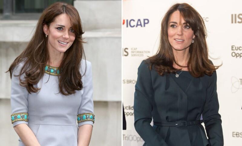 El antes y después de Kate Middleton.