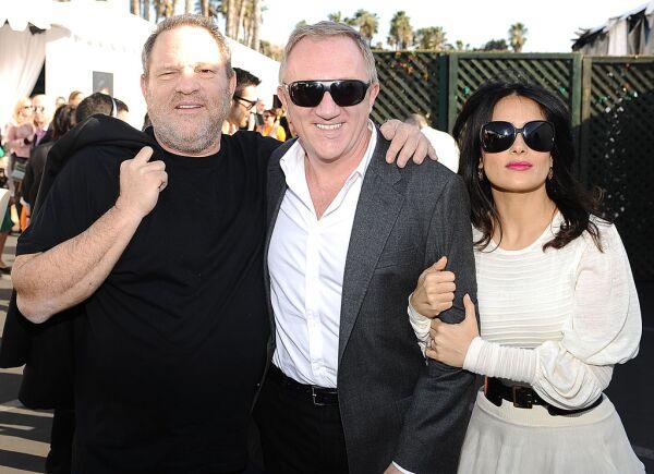 Harvey Weinstein, François-Henri Pinault y Salma Hayek