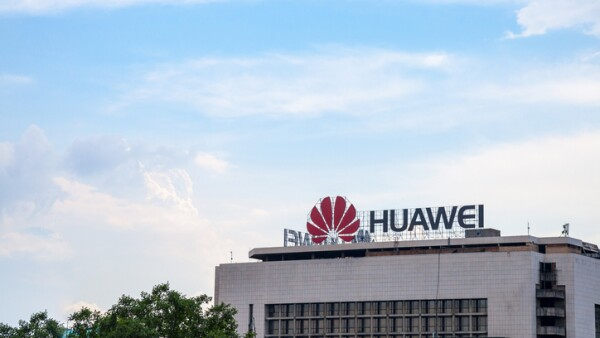 Huawei logo on their office for Serbia in Belgrade. Huawei Technologies is a Chinese networking and telecommunications equipment company