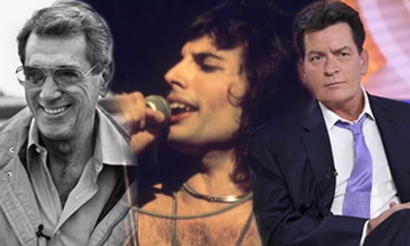 Rock Hudson, Freddy Mercury y Charlie Sheen, entre las celebridades que confesaron tener el virus. (Foto: Especial)