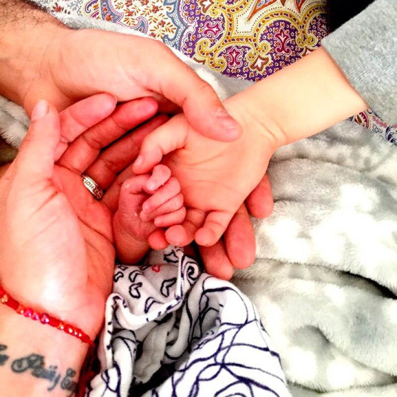 Un pedazito de su bebé, quien llegó al mundo hace unos días.