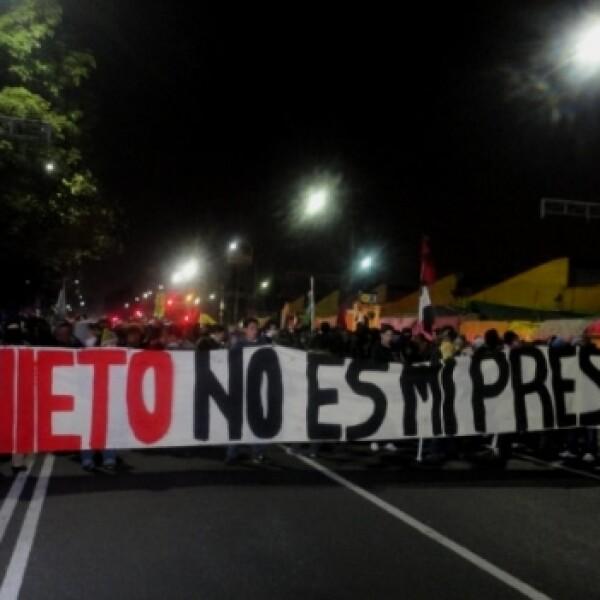 protesta _toma de posesión_ Peña 4