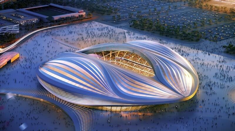 El estadio Al Wakrah que será utilizado en la Copa del Mundo Qatar 2022