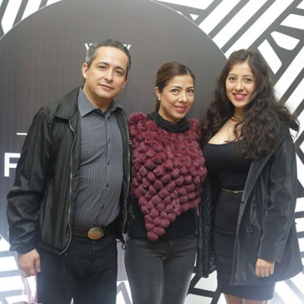Fernando Urrutia,Ana Silva y Fernanda Gómez
