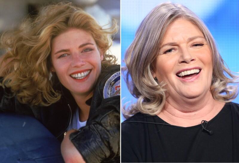 Kelly McGillis, en 1986 (izquierda) y 2014 (derecha).
