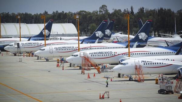 Aviones varados de Aeroméxico