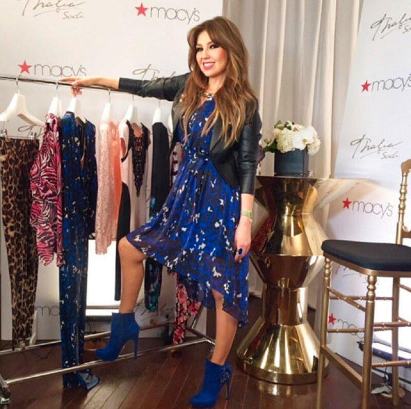 Ayer la cantante y diseñadora celebró el primer aniversario de Thalía Sodi Collection para Macy's en Estados Unidos. Sin embargo, no todo fue felicidad.
