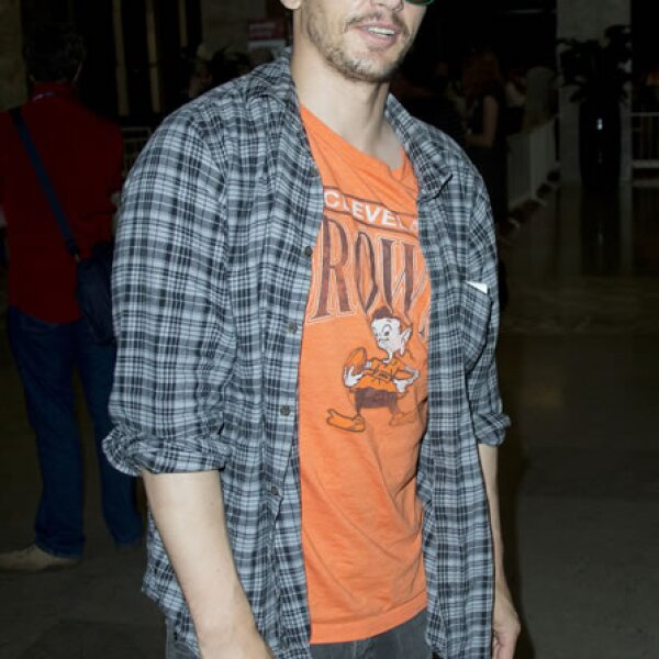 El actor James Franco en un momento informal.