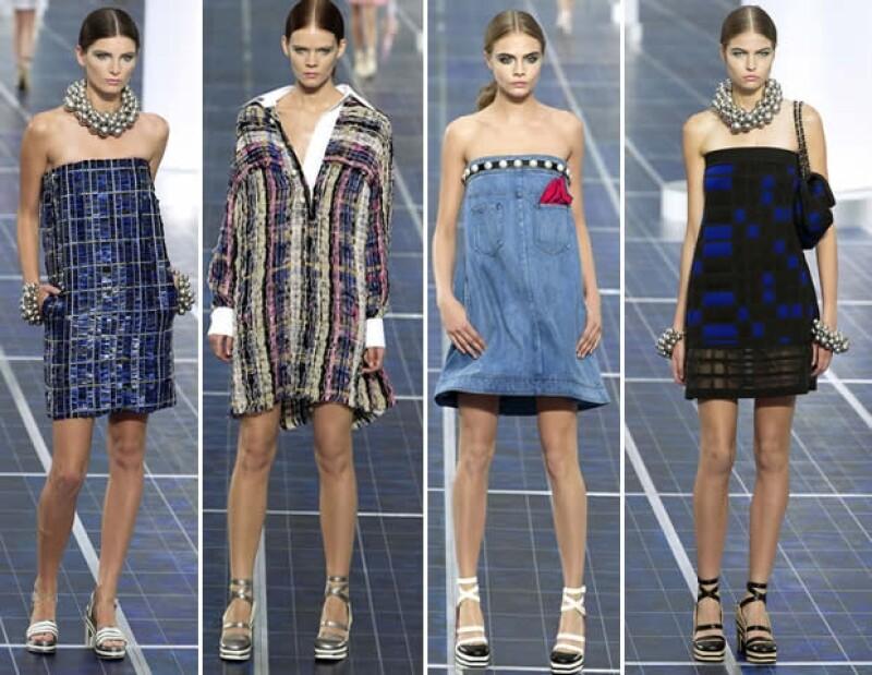 Chanel mostró nuevos materiales y rejuveneció los clásicos.