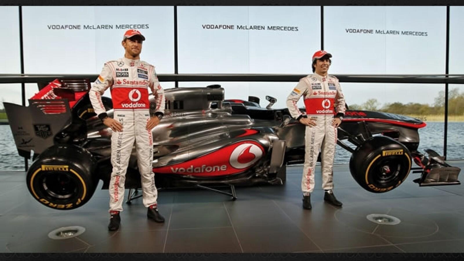 Jenson Button Checo Perez monoplaza McLaren
