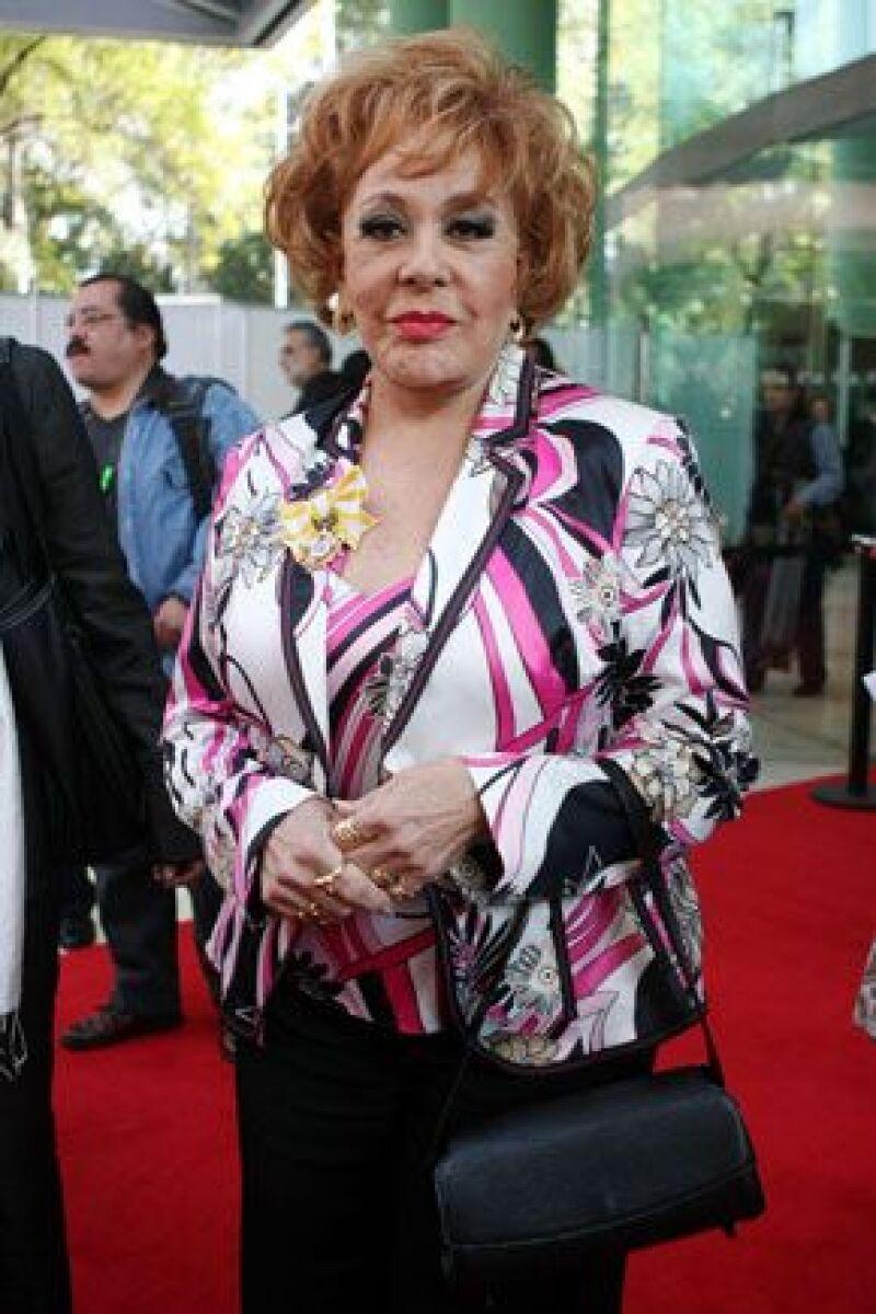 La actriz mexicana fue homenajeada debido a su larga trayectoria.