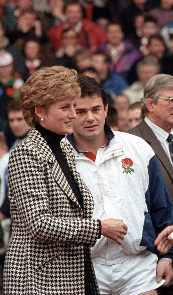 PRINCESS DIANA AT CARDIFF ARMS PARK, CARDIFF, WALES, BRITAIN - 1995