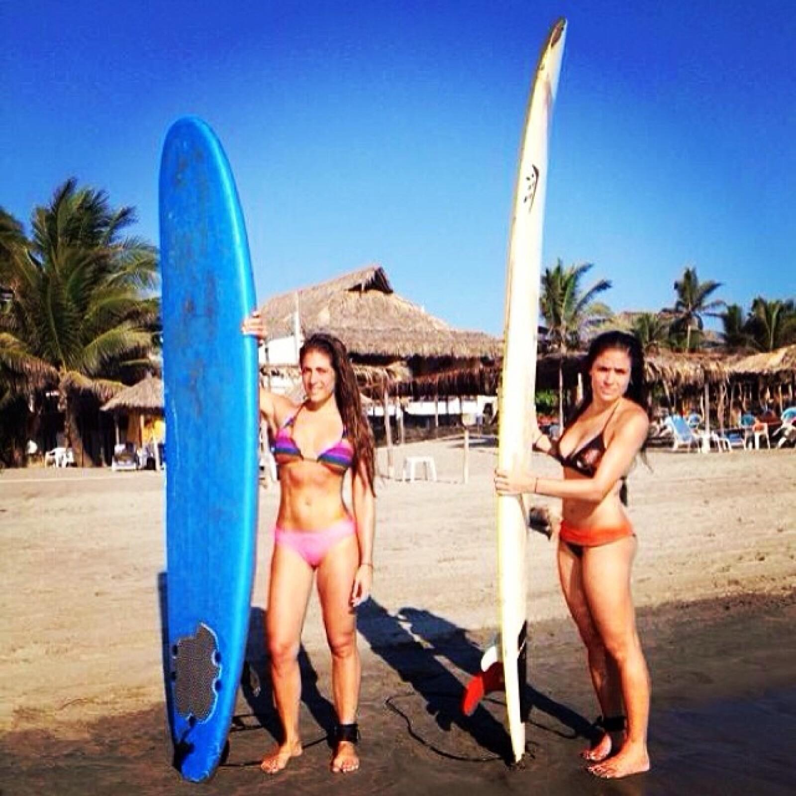 Alessandra y Nunzia son apasionadas practicantes del surf.