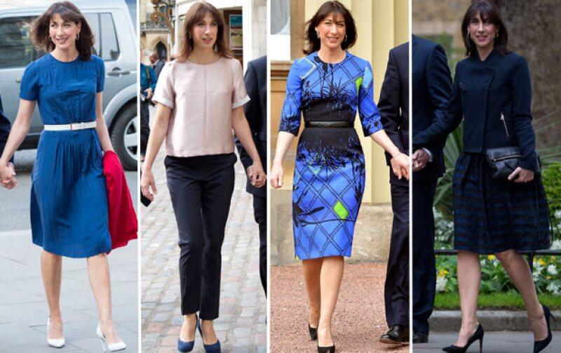 Con 44 años, la esposa de David Cameron ha sido nombrada una de las mujeres mejor vestidas del mundo. ¡Inspírate en su estilo!