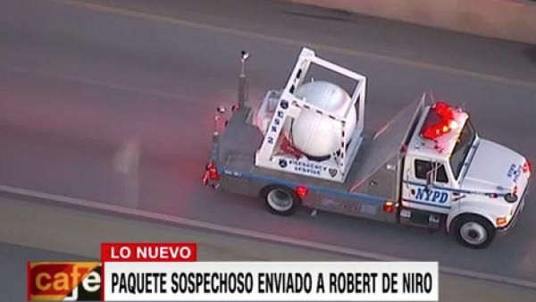 Autoridades investigan paquete sospechoso enviado a productora de Robert DeNiro