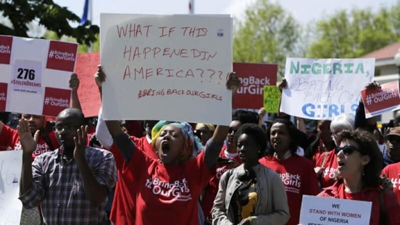 Nigeria protesta niñas secuestro