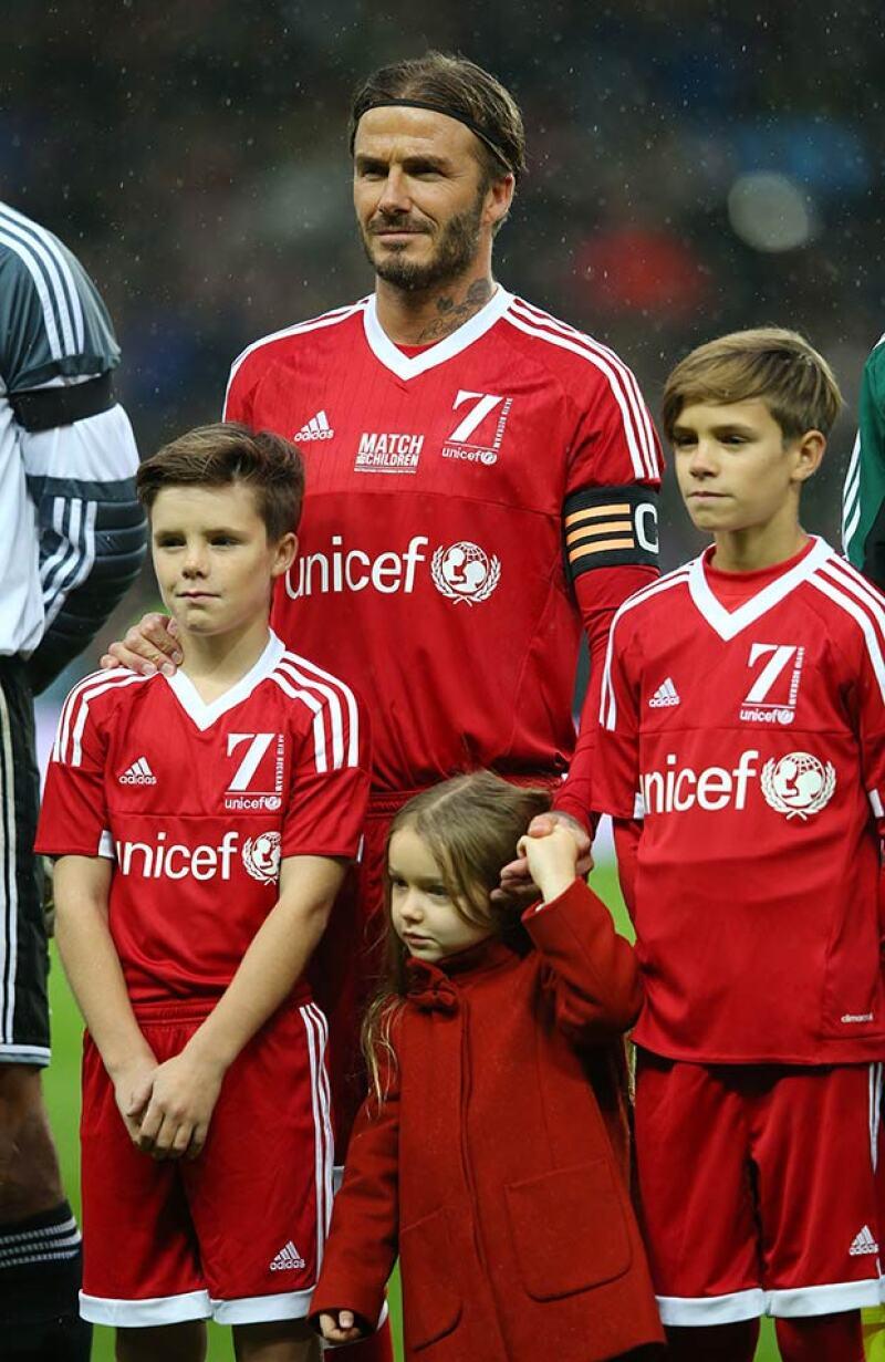 Con apenas cuatro años, la hija más pequeña de los Beckham puede decir que ya conoció a uno de los royals más famosos de Inglaterra.