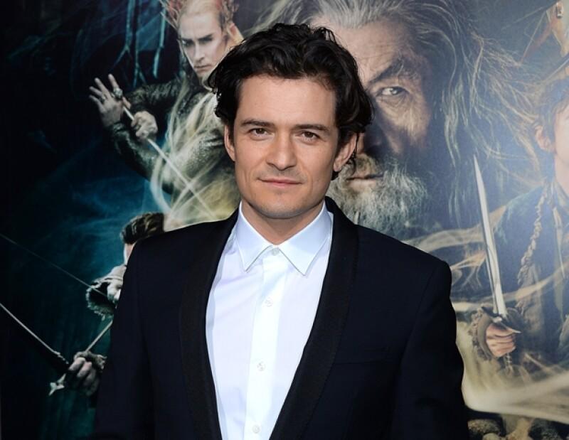 """Orlando Bloom acudió solo a la premier de """"El Hobbit""""."""