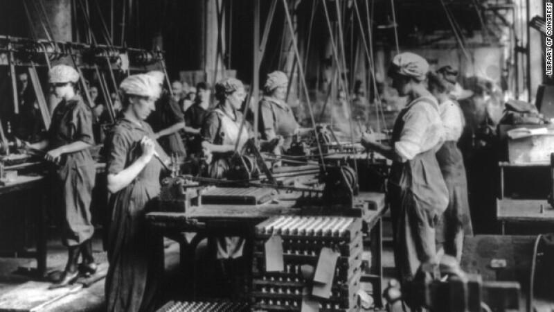 mujeres trabajadoras primera guerra mundial