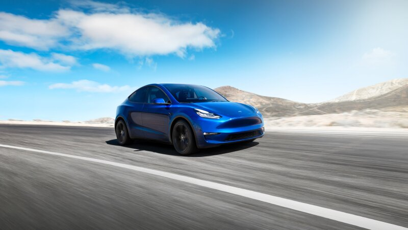 Undated handout photo of Tesla Inc's Model Y electric sports utility vehicle