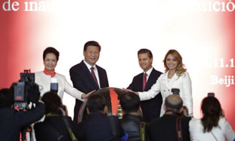 Peña Nieto no mencionó la decisión de revocar el acuerdo para la construcción del tren México-Querétaro. (Foto: Especial )