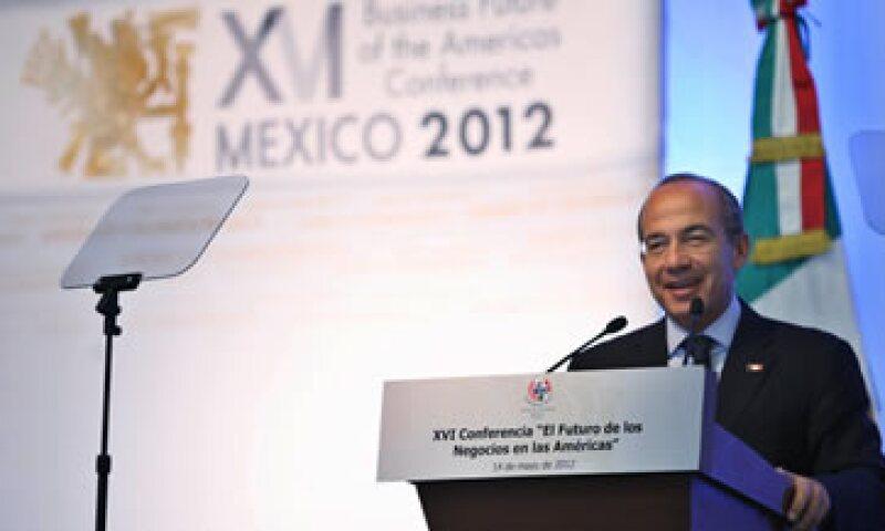 El presidente Calderón destaca las reformas, el comercio y la inversión como claves del desarrollo. (Foto: Notimex)