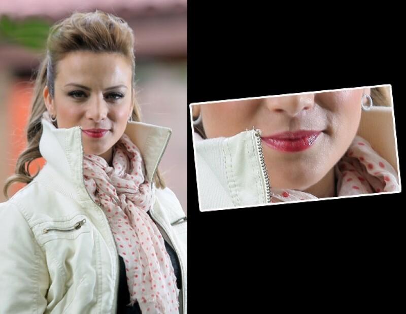 La boca de Silvia Navarro es otro de sus atributos.