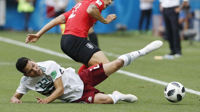 Hirving Lozano, autor del gol de México contra Alemania en el Mundial de Rusia