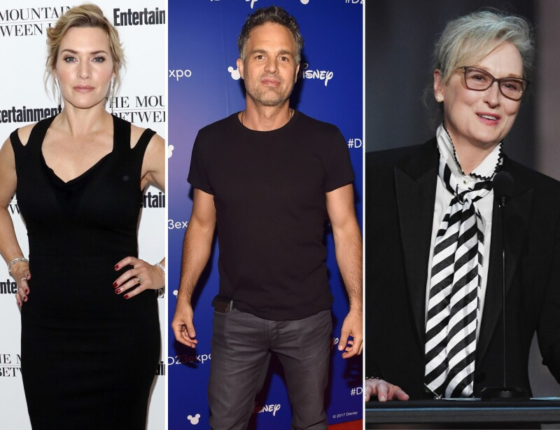 Kate Winslet, Mark Ruffalo, Meryl Streep.