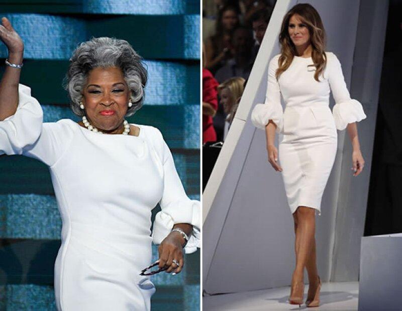 Hace una semana, la esposa de Donald Trump hizo noticia por dos cosas: su discurso plagiado y el vestido que se agotó horas después de la convención. Ayer, Joyce Beatty sorprendió con el mismo look.