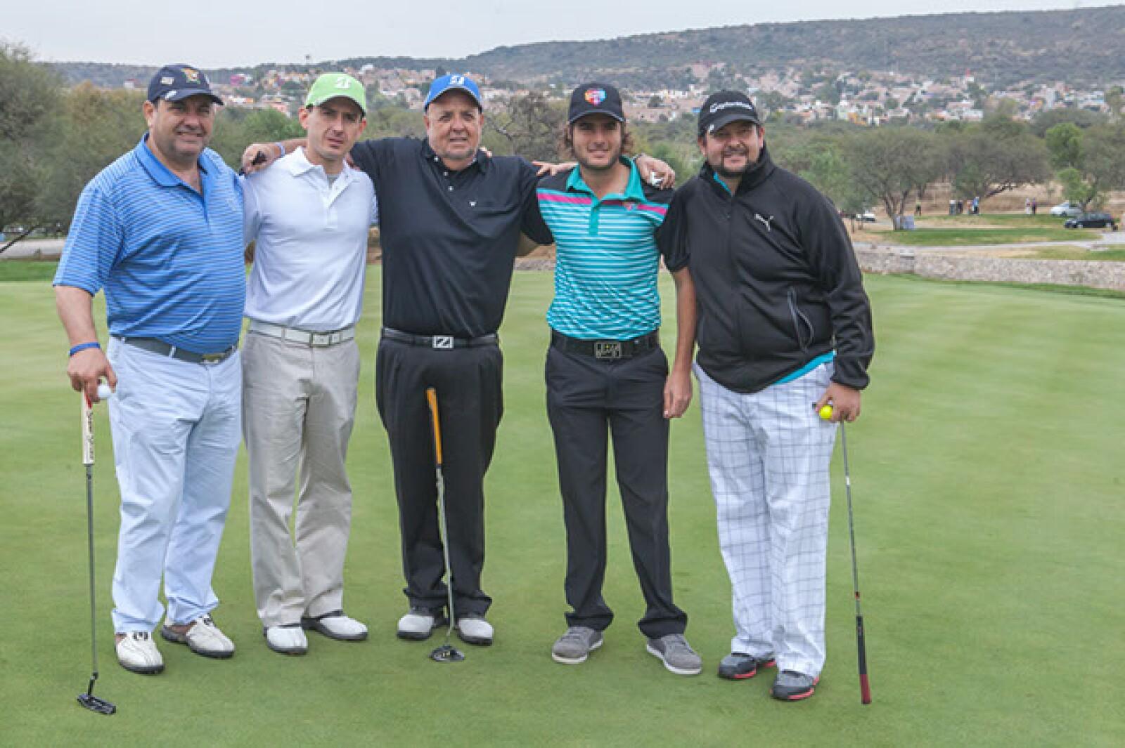 Alfredo Estévez,Michel Sojo,Juan Eduardo García,Patricio Salem y Humberro García