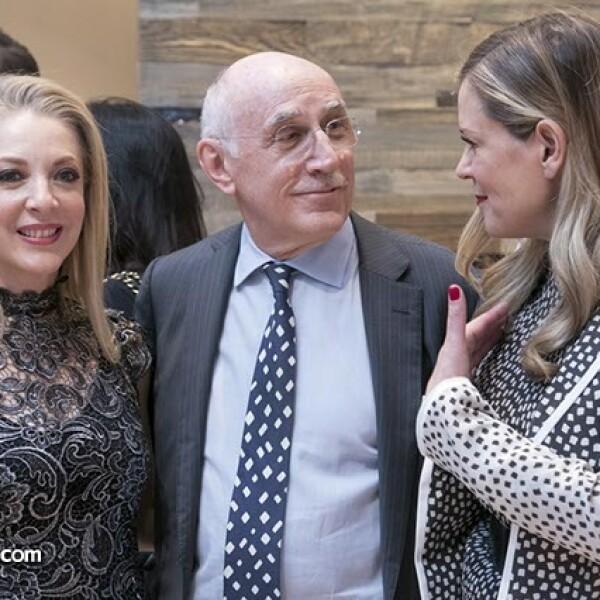 Edith González,Ferruccio Tinghi y Rebeca de Alba