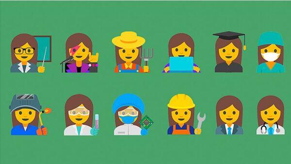 Los emoticones incluyen mujeres que se desempeñan en el cuidado de la salud, la ciencia y la educación.