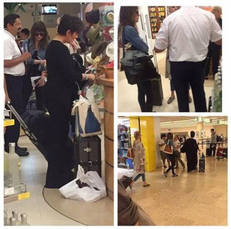 Una fan fotografió la llegada de Kris, Melanie y Dakota a México y lo compartió en las redes sociales.