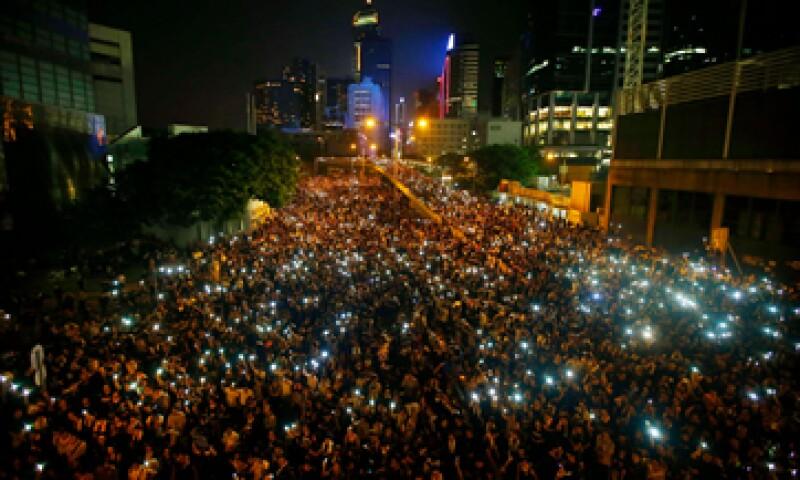 FireChat registra 100,000 descargas en las protestas de Hong Kong. (Foto: Reuters)
