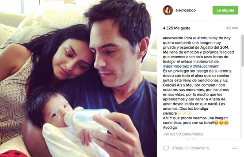 La cantante y actriz está muy emocionada porque la hija de su esposo, Eugenio Derbez, está a punto de casarse, motivo por el cual compartió, además del mensaje, una memorable foto.