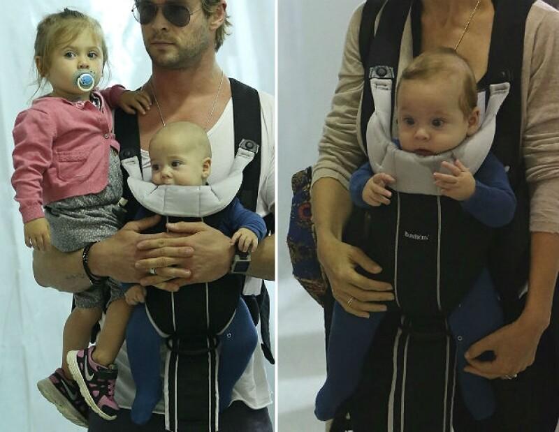 Después de su viaje a Costa Rica, los guapos esposos y sus tres hijos se dejan ver como toda una familia feliz en el aeropuerto de Los Angeles.