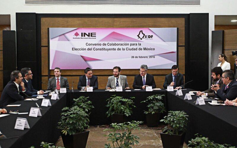 El Consejo General del INE informó que el proceso para conformar la Asamblea Constituyente transcurre conforme a calendario.