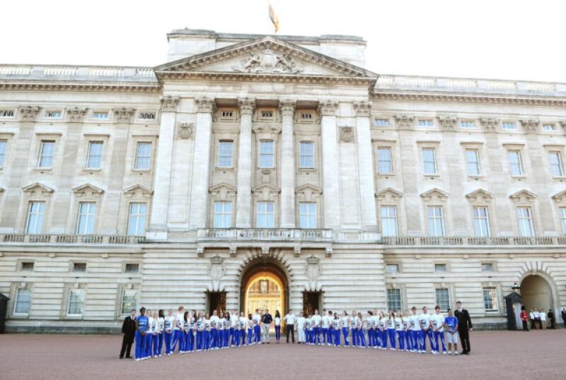 La foto oficial en el Palacio de Buckingham.