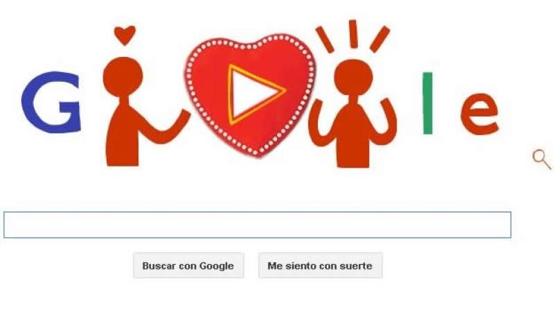 'Doodle' interactivo de día de San Valentín