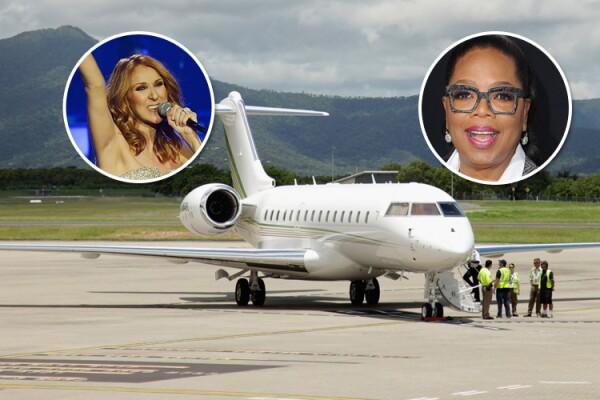 Oprah Winfrey, Celine Dion, avión