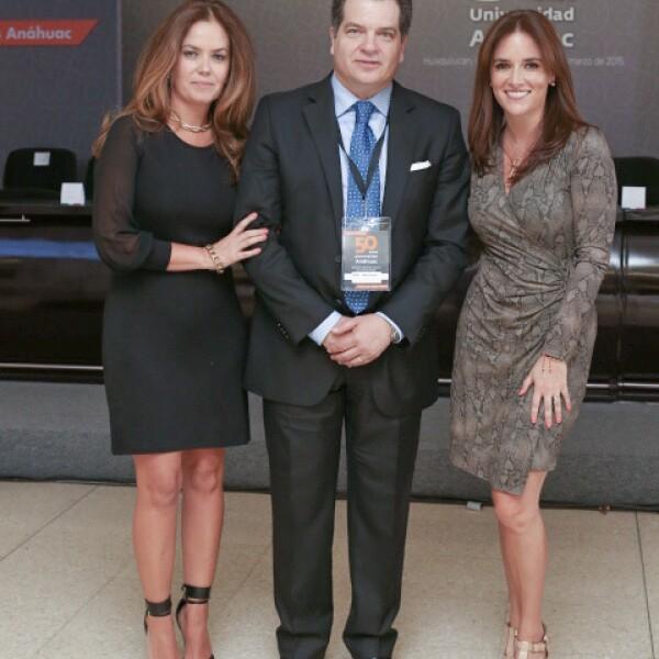 Karina Galván, Miguel Alemán Magnani y Virginia Gómez del Campo.